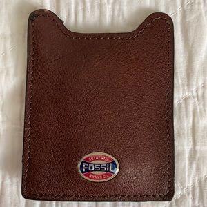 Fossil Card Holder Money Clip